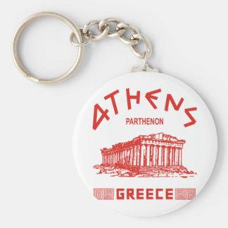 Parthenon - Athens - Greek (red) Key Ring
