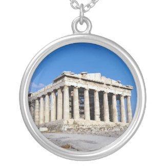 Parthenon Temple : The cradle of Civilization Silver Plated Necklace