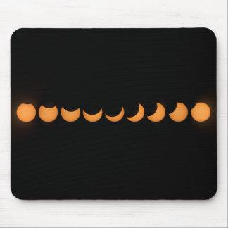 Partial Solar Eclipse Progress Series Mouse Pad