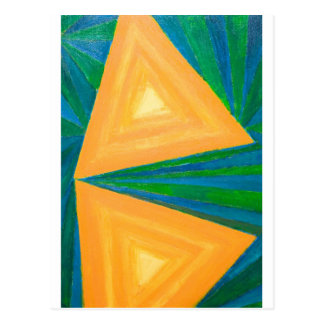 Partial Triangles (geometric expressionism) Postcard