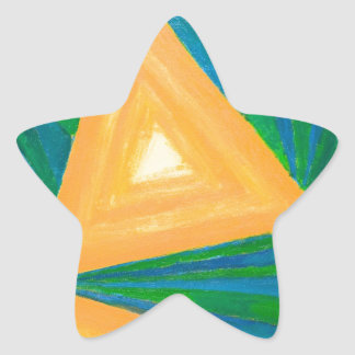 Partial Triangles geometric expressionism Stickers