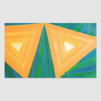 Partial Triangles geometric expressionism Rectangle Sticker