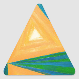 Partial Triangles (geometric expressionism) Triangle Sticker