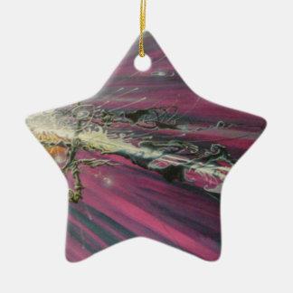 """""""particle"""" original oil painting ceramic star decoration"""