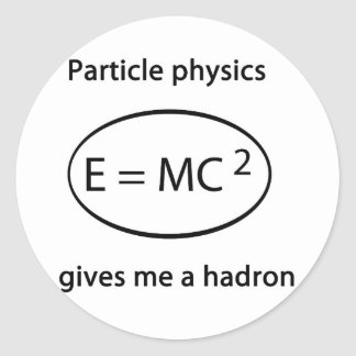 particle physics classic round sticker