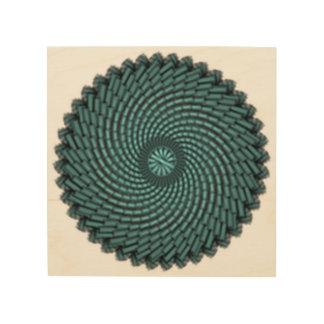 particles wood print