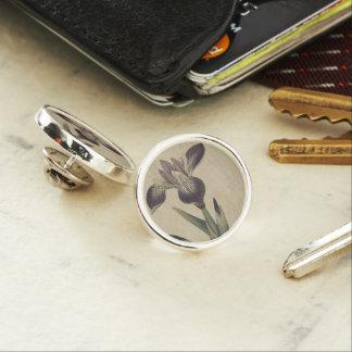 Particolored Iris Lapel Pin