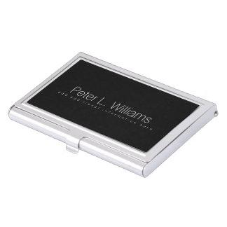 particular basic black business card holder