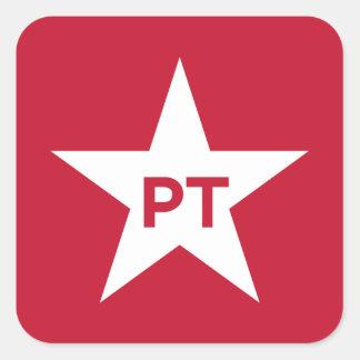Partido dos Trabalhadores Square Sticker