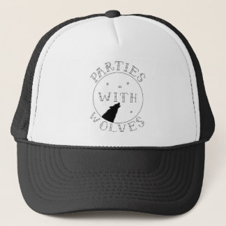 Parties With Wolves Trucker Hat