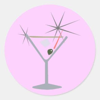 Partini Martini Glass Round Sticker