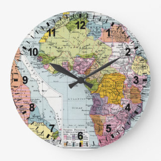 PARTITIONED AFRICA, 1914 LARGE CLOCK