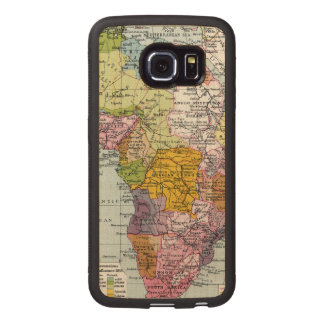 PARTITIONED AFRICA, 1914 WOOD PHONE CASE