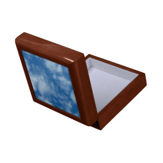 Partly Cloudy Blue Sky Photo Gift Box