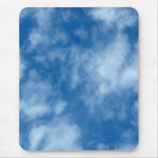 Partly Cloudy Blue Sky Photo Mouse Pad