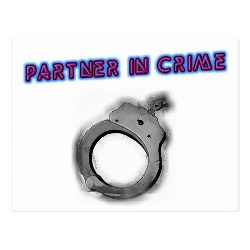 Partner In Crime Left Handcuff Post Card