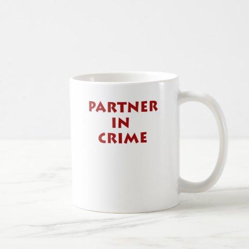 Partner in crime! coffee mugs
