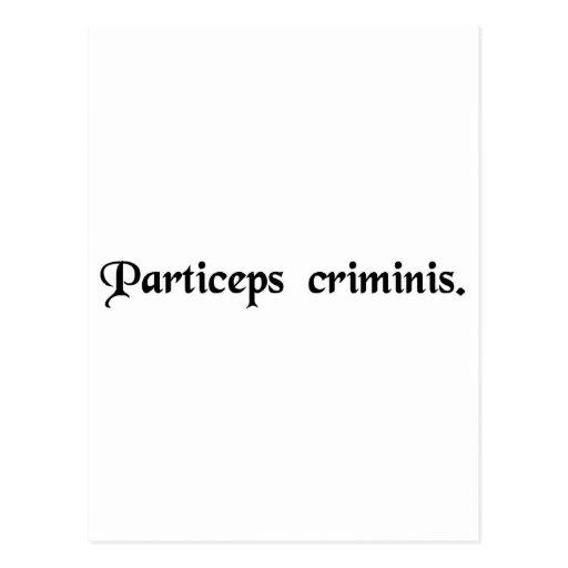 Partner in crime. post card