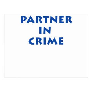Partner in crime! postcard