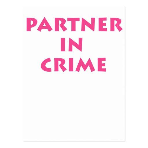 Partner in crime! post card