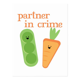 Partner In Crime Postcard