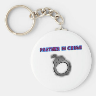 Partner In Crime Right Handcuff Basic Round Button Key Ring