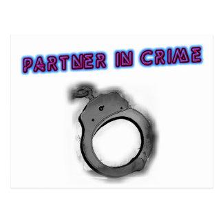 Partner In Crime Right Handcuff Postcard