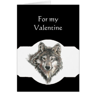 Partner Love Leader of the Pack Wolf Valentine Card