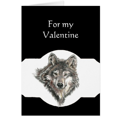 Partner Love Leader of the Pack Wolf Valentine Greeting Card