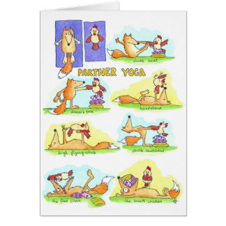 Partner Yoga greeting card by Nicole Janes