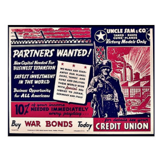 Partners Wanted Post Cards