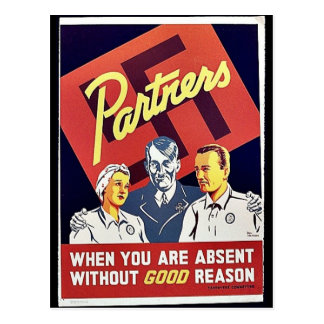 Partners, When You Are Absent Without Good Reason Post Cards
