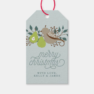 Partridge and Pear Personalized Christmas Gift Tags