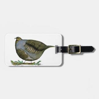 partridge bird, tony fernandes bag tag