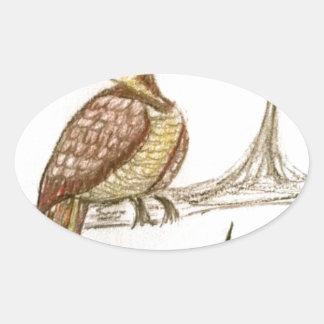 Partridge in a Green Pear Tree Oval Sticker