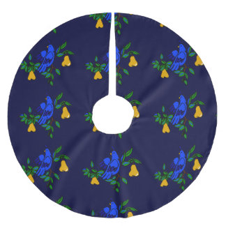 Partridge In A Pear Tree Christmas Tree Skirt