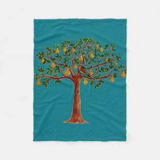 Partridge in a Pear Tree Fleece Blanket