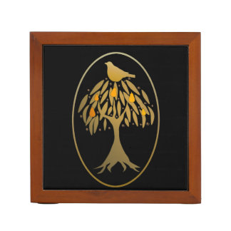 Partridge in a Pear Tree Gold Pencil/Pen Holder