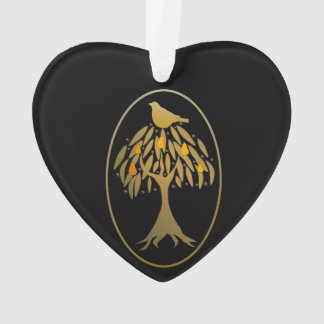 Partridge in a Pear Tree Gold Ornament