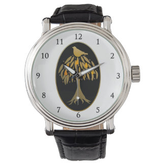 Partridge in a Pear Tree Gold Wrist Watches