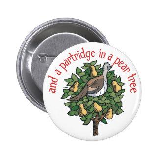 Partridge in a Pear Tree Pin
