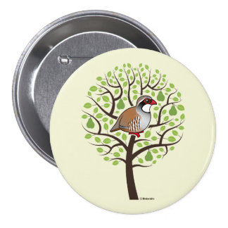 Partridge in a Pear Tree Pinback Button