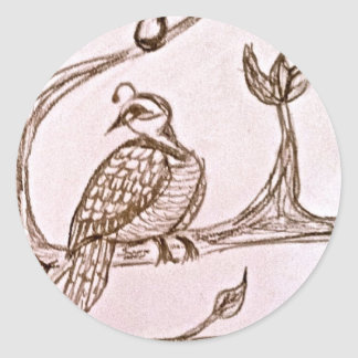 Partridge in a Pear Tree Round Sticker