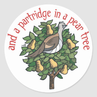 Partridge in a Pear Tree Stickers