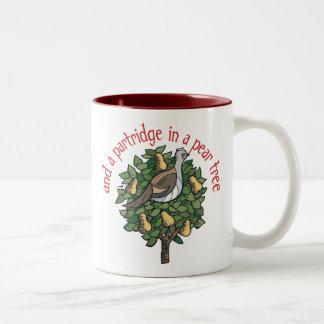 Partridge in a Pear Tree Two-Tone Coffee Mug