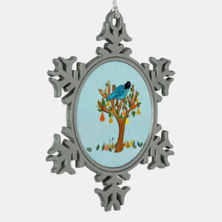 Partridge Pear Tree Snowflake Ornament