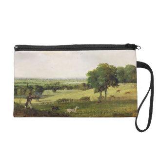 Partridge Shooting (oil on millboard) Wristlet Clutches