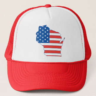 Partriotic Wisconsin Hat