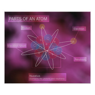 Parts of an Atom Poster
