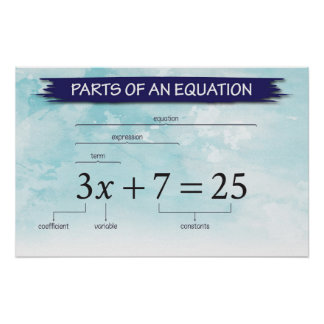 Parts of An Equation Poster